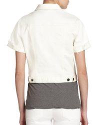 Genetic Denim - White Blondie Short-sleeve Denim Jacket - Lyst