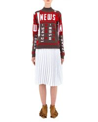 J.W.Anderson | Multicolor News Mockneck Sweater | Lyst