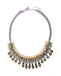 TOPSHOP | Metallic Spike Statement Necklace | Lyst