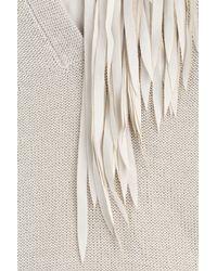 Etro - Gray Ecru/pastel Patterned Knit Gloves - Lyst