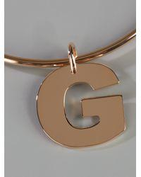 Maman Et Sophie - Metallic G Bracelet - Lyst