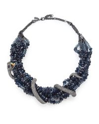Alexis Bittar | Blue Elements Dark Alchemy Crystal Serpent Torsade Bib Necklace | Lyst