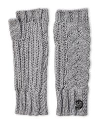 Vince Camuto | Gray Cable Cardigan Fingerless Gloves | Lyst