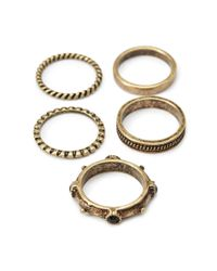 Forever 21 - Metallic Twisted Ring Set - Lyst