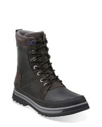Clarks | Black 'ripway Peak' Gore-tex Boot for Men | Lyst