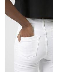 TOPSHOP | Moto White Jamie Jeans | Lyst