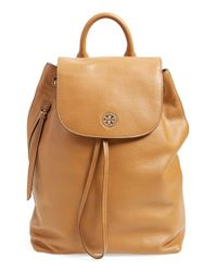 Tory Burch | Brown 'brody' Drawstring Backpack | Lyst