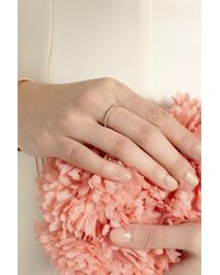 Monica Vinader - Metallic Rose Goldplated Diamond Eternity Ring - Lyst