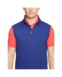 Ralph Lauren - Blue Performance Half-zip Vest for Men - Lyst