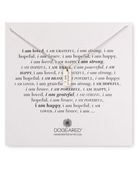 Dogeared | Metallic I Am Grateful Necklace, 18"
