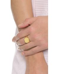 Lulu Frost | Metallic Signet Ring - Gold | Lyst