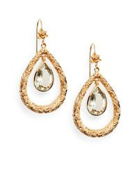 Stephen Dweck | Metallic Green Amethyst Floral Teardrop Earrings | Lyst