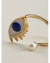 Delfina Delettrez | White 'eye Piercing' Ring | Lyst