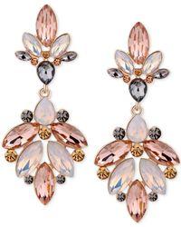 Guess | Metallic Gold-tone Multi-stone Chandelier Earrings | Lyst