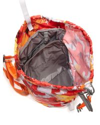 Adidas By Stella McCartney - Orange Floral Print Backpack - Lyst