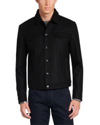 HUGO | Black Regular-fit Jacket In Water-repellent Material: 'balkin' for Men | Lyst