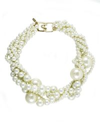 Kenneth Jay Lane | White Statement Necklace, 18"