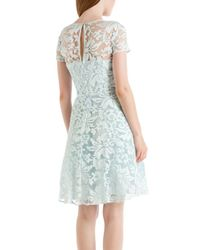 Ted Baker | Blue Caree Floral Lace Dress | Lyst