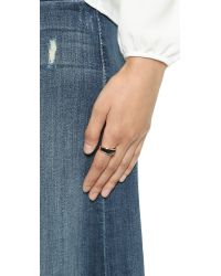 Pamela Love - Black Inlay Cocktail Ring - Rose Gold/Onyx - Lyst