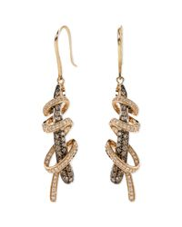 Le Vian | White And Chocolate Diamond Swirl Earrings (1-1/6 Ct. T.w.) In 14k Rose Gold | Lyst