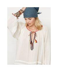 Denim & Supply Ralph Lauren - Natural Embroidered Beach Top - Lyst