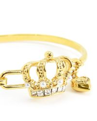Juicy Couture | Metallic Royal Crown Bangle | Lyst