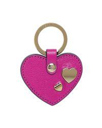Mulberry - Purple Heart Rivet Keyring - Lyst