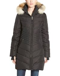 Pajar | Black 'brooklyn' Genuine Coyote & Rabbit Fur Trim Down Parka | Lyst