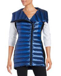 Calvin Klein | Blue Asymmetrical Down Puffer Vest | Lyst