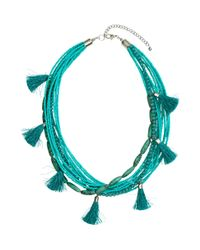 H&M | Blue Multistrand Necklace | Lyst