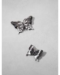 Patrizia Pepe | Metallic Costume Jewelry Set With Rhinestone Brooches | Lyst