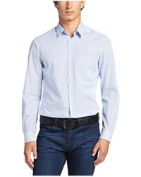 BOSS Green | Blue Regular-fit Casual Shirt: 'c-benzi' With Stripes for Men | Lyst