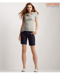 Aéropostale | Blue Solid Bermuda Uniform Shorts for Men | Lyst
