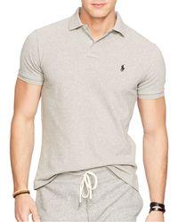 Ralph Lauren   Gray Polo Classic-fit Mesh Polo Shirt for Men   Lyst