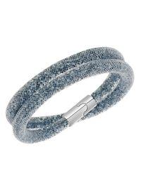Swarovski | Gray Stardust Double Wrap Bracelet | Lyst