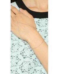 Gorjana - Pink Paige Ring To Wrist Bracelet - Rose Gold - Lyst