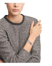 Tory Burch - Metallic Logo Charm Bracelet - Lyst