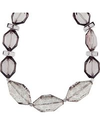 Armani | Metallic Chunky Beaded Necklace | Lyst