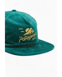 Patagonia | Green Corduroy Strapback Hat | Lyst