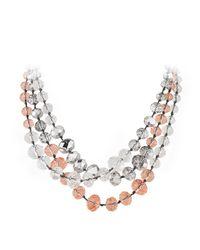 Dyrberg/Kern | Metallic Debbie Beads Necklace | Lyst