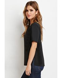 Forever 21 | Black Classic Vented Top | Lyst