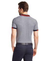BOSS Green   Blue 'paule'   Slim Fit, Cotton Polo Shirt for Men   Lyst