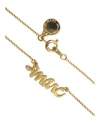 Marc By Marc Jacobs - Metallic Gold Tone Snake Logo Necklace - Lyst