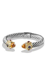 David Yurman - Metallic Renaissance Bracelet With Citrine, Iolite, Rhodalite Garnet And Gold - Lyst