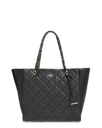 Kate Spade | Black 'emerson Place - Francelle' Quilted Leather Tote | Lyst