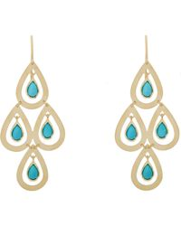 Irene Neuwirth | Blue Women's Gemstone Chandelier Earrings | Lyst