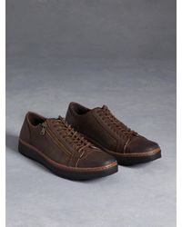 John Varvatos - Brown Barrett Creeper Low Top Sneaker for Men - Lyst