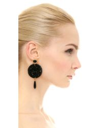 Kenneth Jay Lane | Circle Earrings - Black | Lyst