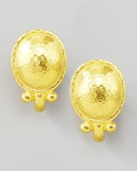 Elizabeth Locke | Metallic Sarabella 19k Gold Earrings | Lyst