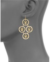 Trina Turk | Metallic Goldtone Circular Chandelier Earrings | Lyst